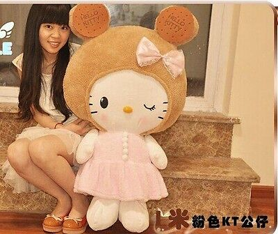Big Size@100cm/39.4Inch Pink Hello Kitty Soft Plush Toys/Biscuit Design New