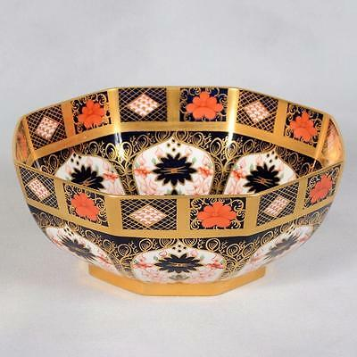 Royal Crown Derby Imari Octagon Shaped Bowl - Pattern #1128