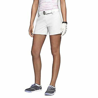 Nike Womens Dri-Fit Modern Rise Tech Golf Short, White, Size 6