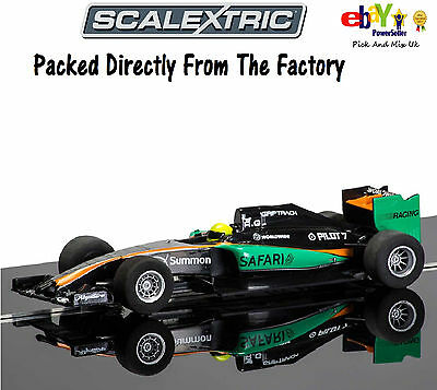 ALL NEW SCALEXTRIC Slot Car F1 2015 Season GP Racer Generic Black/Green C3669