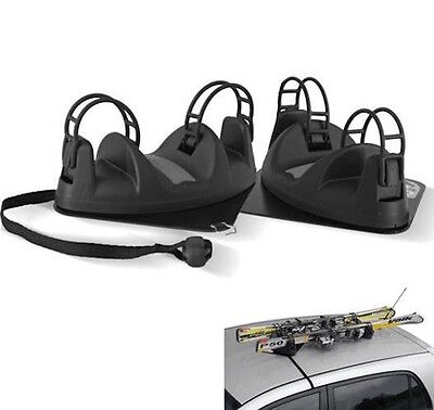 MENABO Magnetic Ski Carrier Rack Car Roof Mounted Holds 2 Pairs of Ski