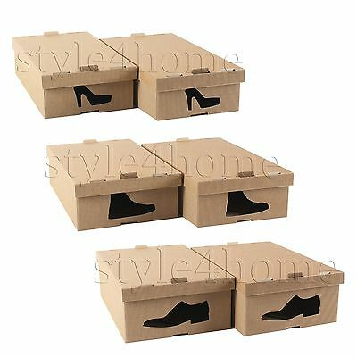 STYLISH  Cardboard Storage SHOE BOXES Underbed WARDROBE Foldable ORGANISER !!!