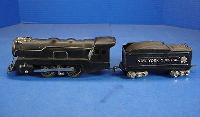 Marx 898 electric tin train engine & New York Central wedge coal tender
