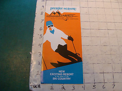 Vintage High Grade SKI brochure: 1971--premier season ARGATE Lakefront Resort