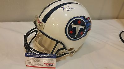 Signed Authentic Riddell Full Size Helmet TENNESSEE TITANS  NFL Large