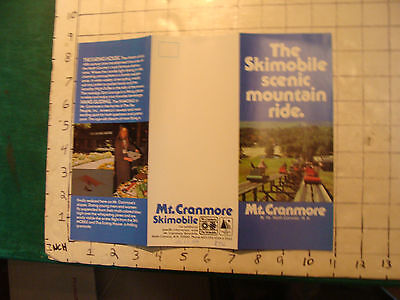 Vintage High Grade Brochure: THE SKIMOBILE Scenic Mountain Ride MT CRANMORE 1978