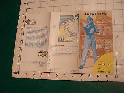 HIGH GRADE VINTAGE  brochure: 1953 AMERICANS how about HOLLAND for holidays