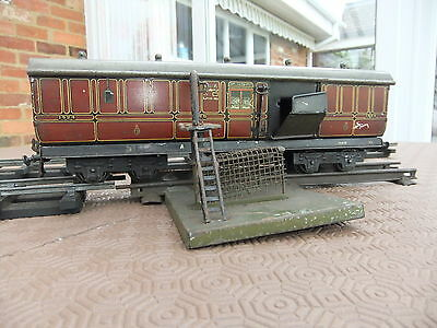 Bassett Lowke O Gauge LMS Post Office Van with lineside delivery apparatus