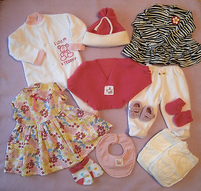 """Bundle Clothes to fit 18""""  Dolls Annabel / Baby Born - 15 Items"""