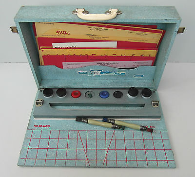 Rare Signwriters Kit Case Box National Display Specialist Show Card Sign Writer
