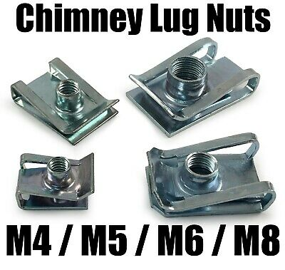 M4 M5 M6 M8 Spire Clips Lug Nuts Chimney U Nuts Fixings Panel Speed Fasteners