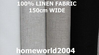 Washed 100% Linen Fabric 150cm wide per metre