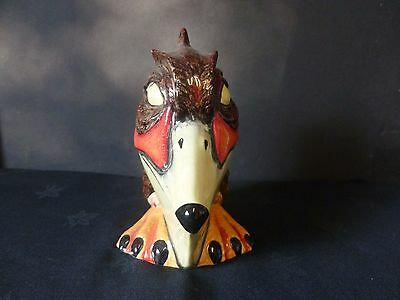 """Lorna Bailey """"spike"""" Large Bird Brand New Hand Painted & Signed"""