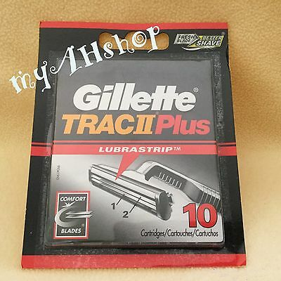 Gillette Trac II Plus 10 Refill Cartridges, New/Sealed Package, Free Shipping