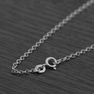 Genuine 925 Sterling Silver 2mm Rolo Belcher Chain Necklace
