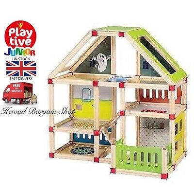 Playtive junior wooden doll's house 116 pcs