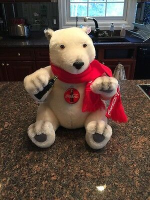 STEIFF 1999 COCA-COLA POLAR BEAR COLLECTIBLE RETIRED All Tags