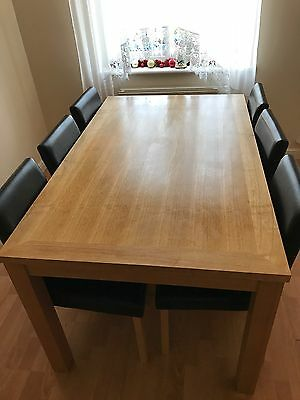 Dining table and 6 charis