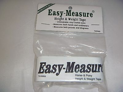 """""""easy- Measure"""" Horse Or Pony Height/weight Tape,  For Acurate Dosing Of Wormers"""