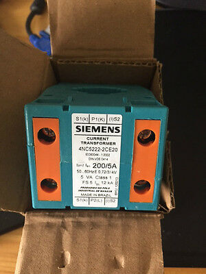 Siemens Clip Fit Current Transformer, -10 - +55 °C 200:5 28mm Cable Dia 7352831