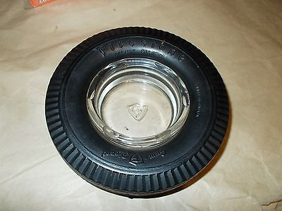 Firestone Deluxe Champion Tire Ashtray With Embossed Insert Made In Canada