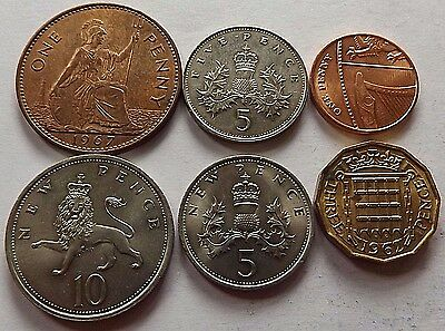 1962-2015 Great Britain Coins! All In Bu Condition! 6 Coins Total!
