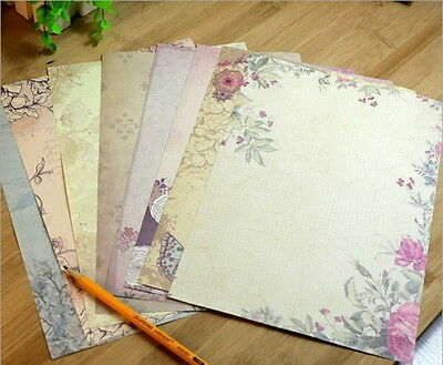 40X Romantic Flower Writing Letter Paper European Retro Vintage Stationery Set チ