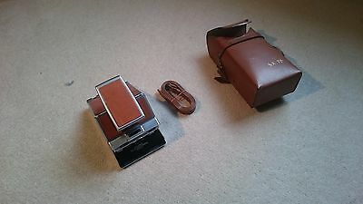 Working Polaroid SX-70 Camera and Case with extra, longer strap