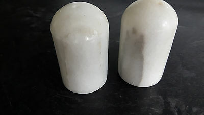 Marble Salt and Pepper Pots/Cruet Set with stoppers