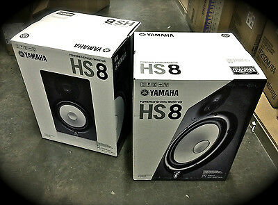 Yamaha HS-8 Powered Studio Monitors *PAIR* GREAT SPEAKERS HS8 Shipping Included