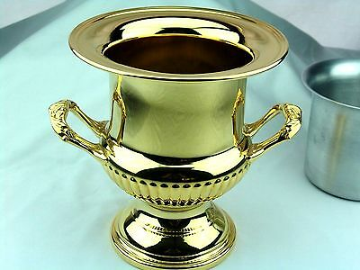 WMF OF AMERICA 24kt GOLDPLATED CHAMPAGNE ON  ICE BUCKET URN WINE COOLER + INSERT