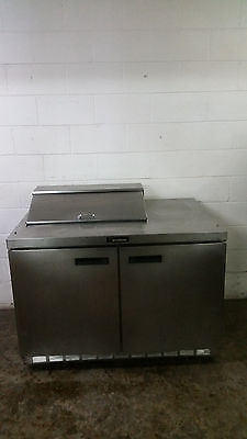 "Delfield 48"" Sandwich Salad Prep Table 2 Door Tested 120 Volt No Tag"