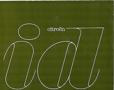 Brochure catalogue depliant CITROEN ID 1964