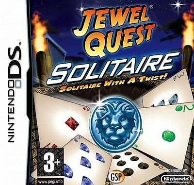 *BOX & MANUAL ONLY* JEWEL QUEST SOLITAIRE - NINTENDO DS / DSi