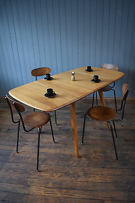 Vintage Ercol Plank Top Drop Leaf Blonde Dining Table Kitchen CAN DELIVER