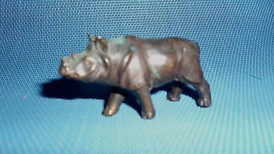 Small Vintage Metal Rhinoceros