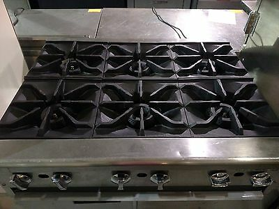 """Used IMPERIAL 6 Eye Burner Natural Gas Counter Top 36"""""""