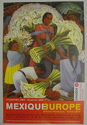 Affiche DIEGO RIVERA 2004 Exposition MEXIQUE-EUROPE