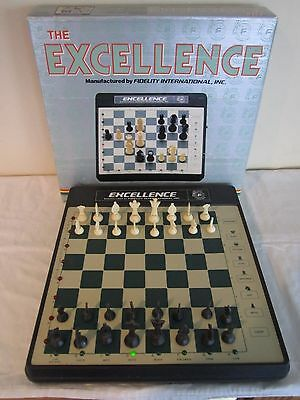 """"""" The Excellence """" Vintage Electronic Computer Chess Game-Model Ep12-Excellent"""