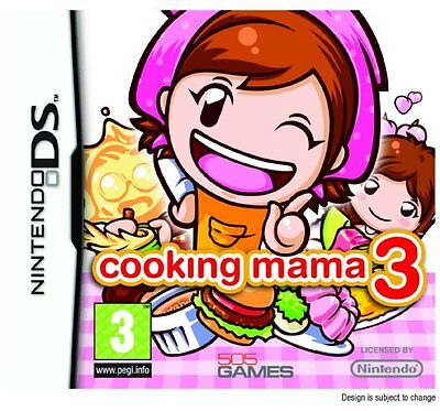 *BOX & MANUAL ONLY* COOKING MAMA 3 - NINTENDO DS / DSi