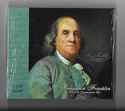 "2006 Benjamin Franklin Coin And Chronicles Set ""sealed"" {Complete Set}"