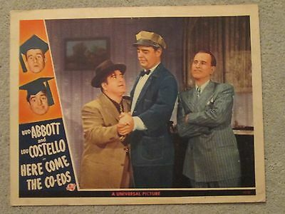 Here Come The Co-Eds   -   Original Lobby Card - Abbott + Costello - Lon Chaney
