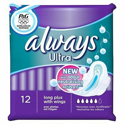 Always Ultra Pads Long with Wings 4 x 12 Pads