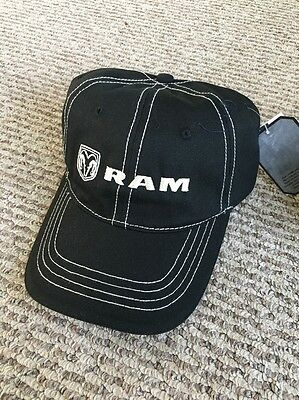 8e59f9b4e DODGE RAM TRUCK Black Baseball Cap Trucker Hat Trucks Hemi New Nwt