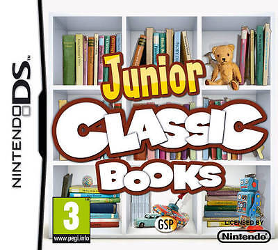 *BOX & MANUAL ONLY* JUNIOR CLASSIC BOOKS - NINTENDO DS / DSi