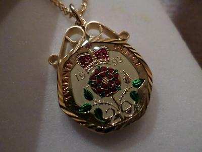 Vintage Enamlled 20 Pence Coin 1993 Pendant & Necklace. Birthday Christmas Gift