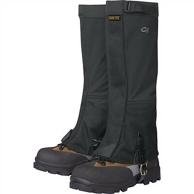 Outdoor Research Expedition Crocodile Gaiters, size M Black (shoe size 8-11)