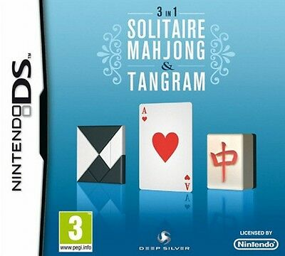 *BOX & MANUAL ONLY* SOLITAIRE MAHJONG & TANGRAM - NINTENDO DS / DSi