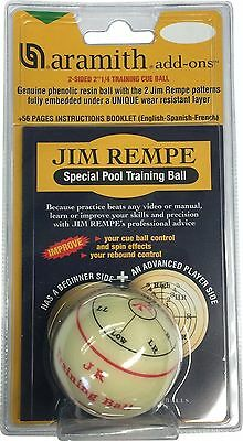 "Aramith 2-1/4"" Regulation Size Billiard/Pool Ball: Jim Rempe Training Cue Bal..."