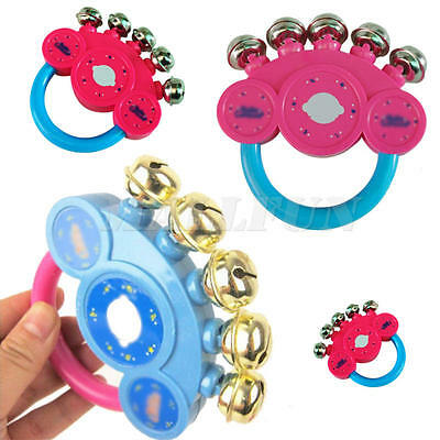2x Baby And Kids Rattle Handbells Musical Developmental Toys Hand Shaking Bell